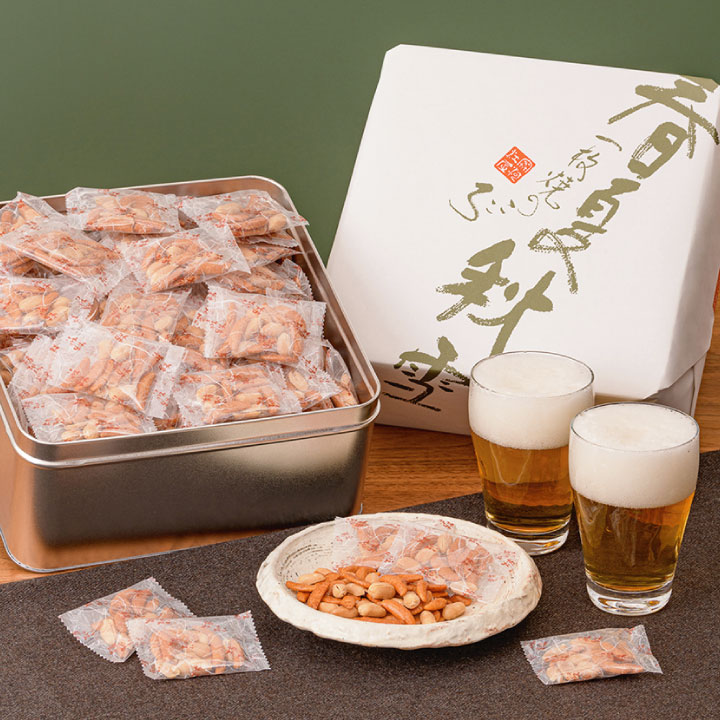 缶入り 柿ぴぃ イメージ