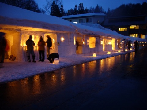 雪旅籠 夜の賑わい
